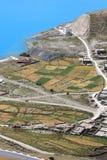 Small Village near Yamdrok Lake Stock Image