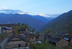 Small village in Nepal Stock Image