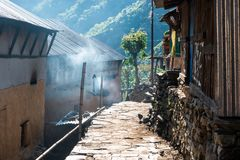 Small village in Nepal Stock Photos