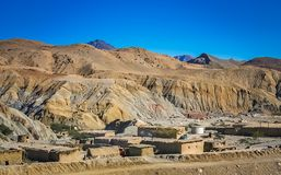 Small village in Pakistan. Small and poor village as seen from the train going to Quetta, southern Pakistan Royalty Free Stock Photo