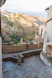 Small village. Panoramic viewof mount Nebrodi in Sicily from Savoca Royalty Free Stock Photography