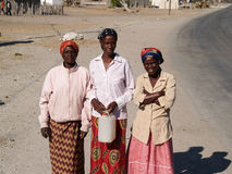Small village and people of Gweta on the Makgadigadi Pans in Bot Royalty Free Stock Images