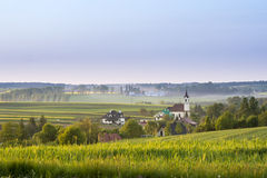 Small village on Polish countryside Royalty Free Stock Image
