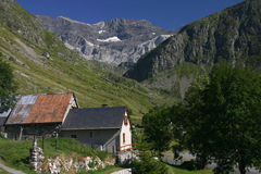 Small village in Pyrenees Mountains Royalty Free Stock Images