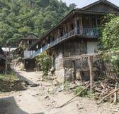 Small village in the region sun koshi, nepal Stock Photo