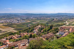 Small village and Roero area in Italy. Stock Photos
