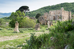 Small village of Roman times, Italy Royalty Free Stock Photography