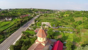 Small village in Romania stock video