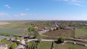 Small village in Romania stock footage