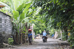 Small village at rural area of East Bali, Indonesia Royalty Free Stock Image