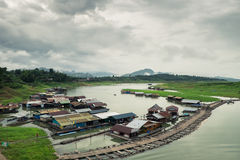 Small village in Sangkhlaburi Stock Images