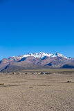 Small village of shepherds of llamas in the Andean mountains. An Stock Photo