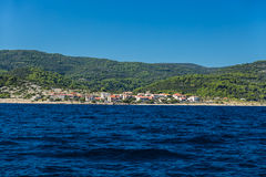 Small village on shore. Royalty Free Stock Photo