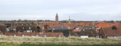 A small village. In Zeeland stock images