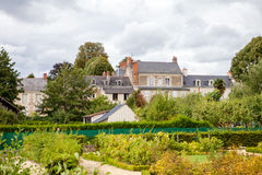 Small village in the summer, Bauge, France royalty free stock photos