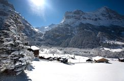 Small village in Swizz Alps royalty free stock images