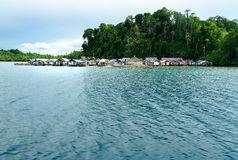 Small Village Tobil on Togean Islands. Indonesia. Royalty Free Stock Image