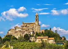 Small village in Tuscany stock photo
