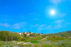 Small village under a shining sun in Gallura Royalty Free Stock Photos