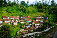 Small village. In the valley Stock Images