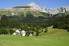 Small village in the Vercors range. France Royalty Free Stock Photos