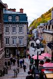 Small village. Vintage village in Old Quebec royalty free stock photos