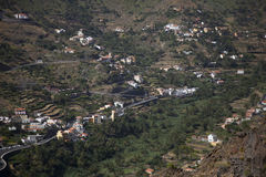 Small villages on the steep slopes of La Gomera Royalty Free Stock Photography