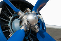 Small vintage airplane propeller Stock Photo