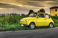 Small vintage italian car Fiat Abarth Royalty Free Stock Photo