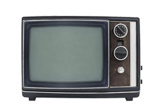 Small Vintage Portable Television Isolated Stock Images