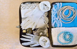Small vintage suitcase Stock Photography