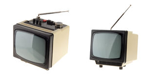 Small vintage TV Royalty Free Stock Photo