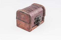 Small vintage wooden box open Stock Photo