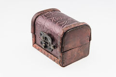 Small vintage wooden box open Stock Photos