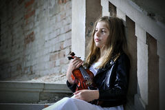 Small violinist Stock Photos