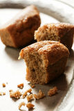 Small walnut loaf cakes Royalty Free Stock Image