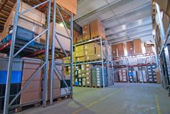 Small warehouse Royalty Free Stock Photos