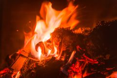 A small and warm flame royalty free stock image