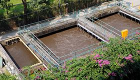 Small wastewater treatment plant Stock Photos