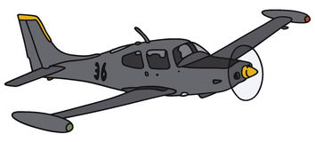 Small watch aircraft. Hand drawing of a small military watch propeller aircraft - not a real model Stock Images