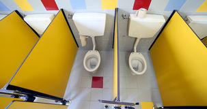 Small water in the cabin of the nursery bathroom Royalty Free Stock Photography