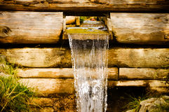 Small water channel and waterfall Stock Images