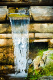 Small water channel and waterfall Royalty Free Stock Images