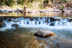 Small Water flow trough rock part of waterfall Stock Image