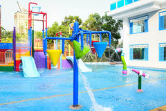 Small water park playground. Royalty Free Stock Images