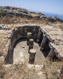 Small water reserve at top of Ancient Thira, Santorini Royalty Free Stock Photo