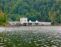 Small water reservoir with dam Royalty Free Stock Images