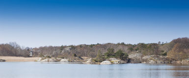 Small water reservoir. A small fresh water reservoir in sweden Royalty Free Stock Images