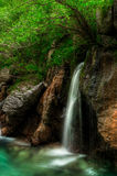 Small waterfal in Soca river valey Royalty Free Stock Photography