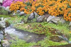 Small waterfall. In a garden Royalty Free Stock Photography